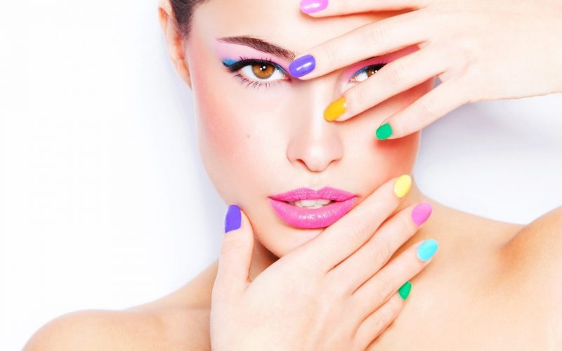 face-painted-nails-fingers-woman
